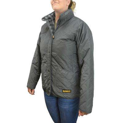 Women's XLarge 20-Volt MAX XR Lithium-Ion Charcoal Quilted Jacket Kit with 2.0 Ah Battery and Charger