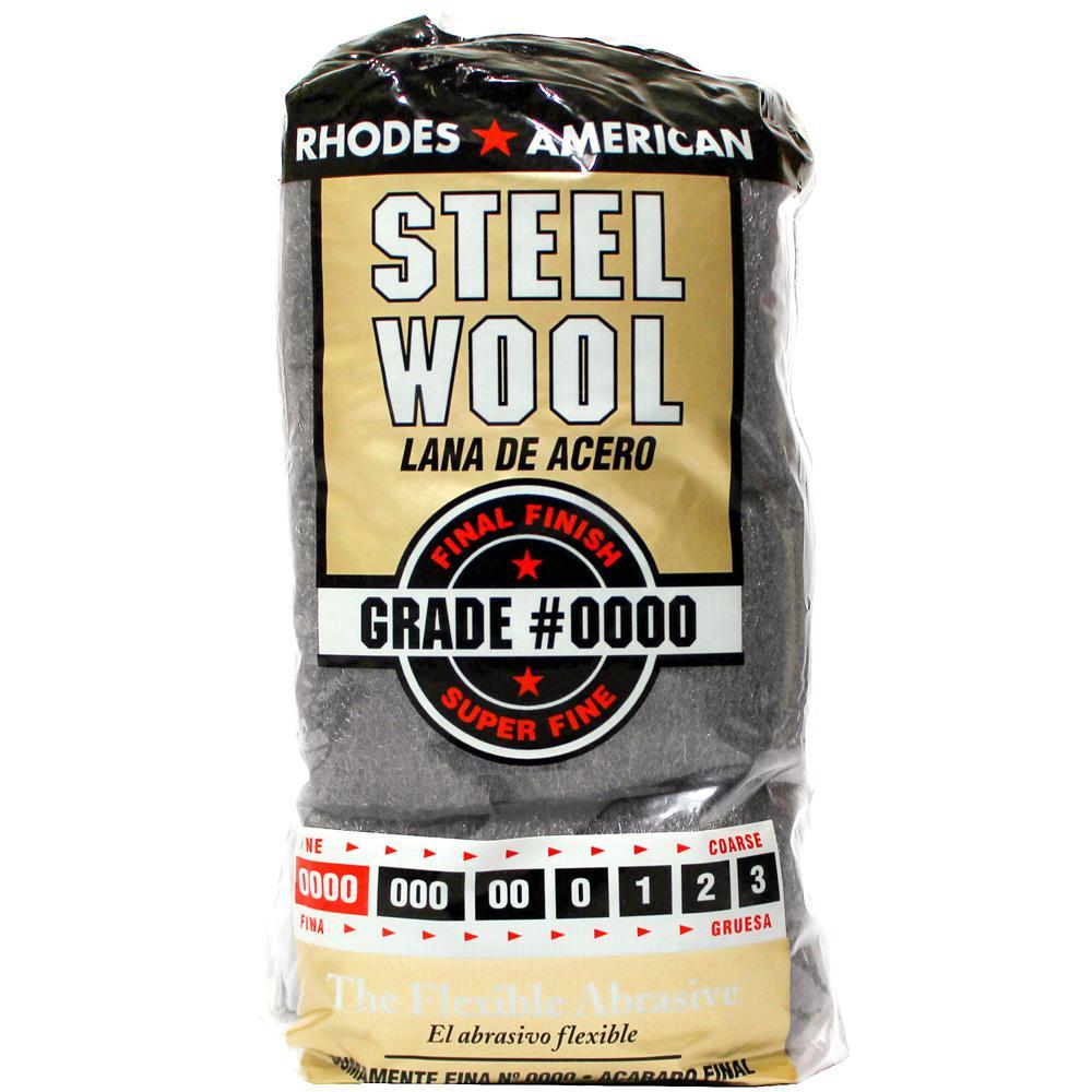 Homax #4/0 12 Pad Steel Wool, Super Fine Grade