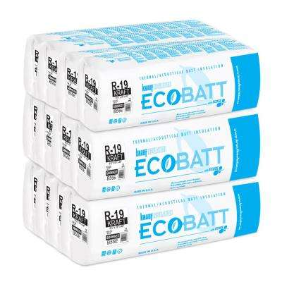 R-19 Kraft-Faced Fiberglass Insulation EcoBatt 6-1/4 in. x 19 in. x 48 in. (8-Bags)