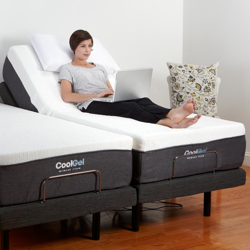 Adjustable Comfort Twin XL-Size Adjustable Bed Base