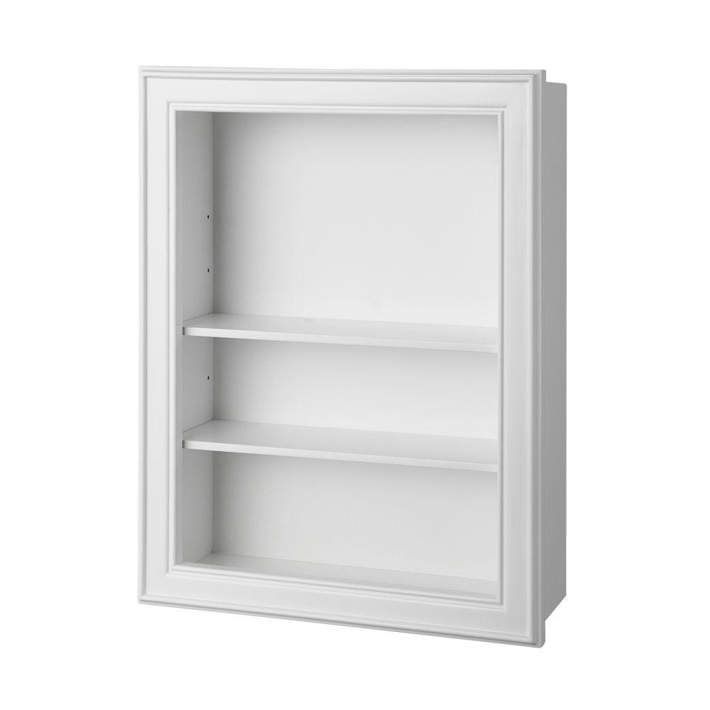 Elegant W Wall Shelf In White