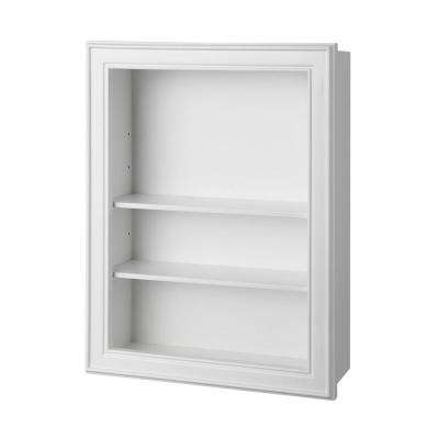 Gazette 18-1/2 in. W Wall Shelf in White