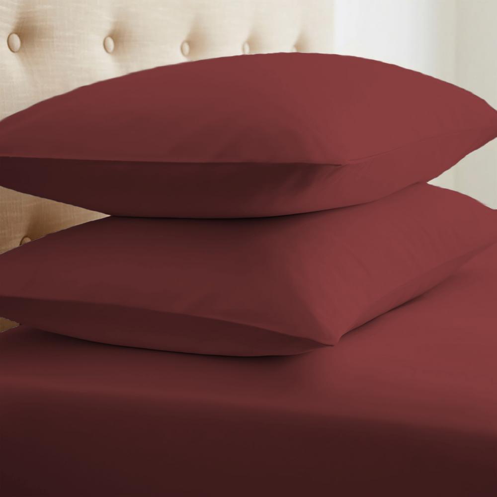Performance Burgundy King Pillowcases (Set of 2)