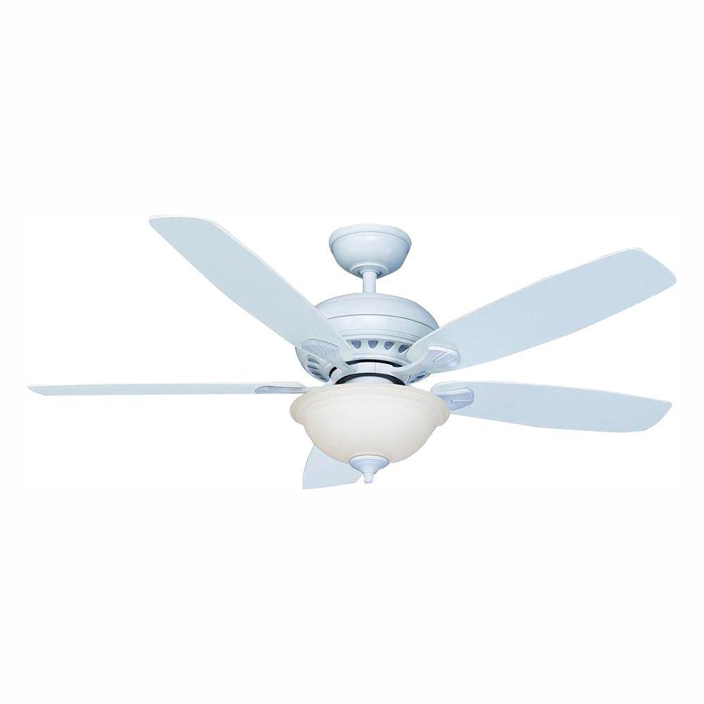 Hampton Bay Southwind 52 In Led Indoor Matte White Smart
