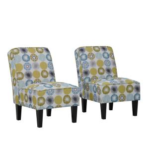 Admirable Handy Living Brodee Citron Multi Starburst Upholstered Squirreltailoven Fun Painted Chair Ideas Images Squirreltailovenorg
