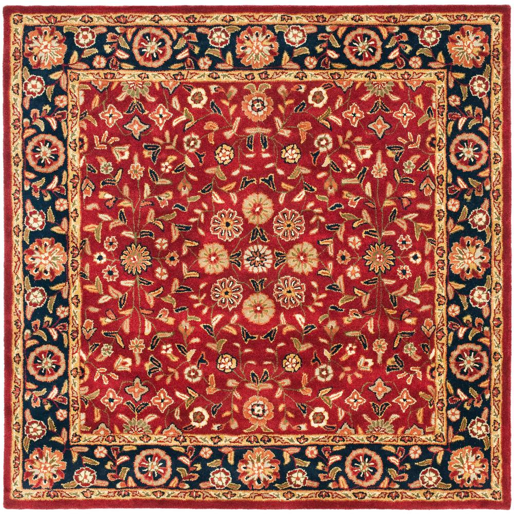 Safavieh heritage red navy 6 ft x 6 ft square area rug