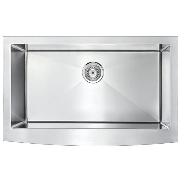 Anzzi Elysian Farmhouse Stainless Steel 32 In Single Bowl Kitchen Sink With Faucet In Oil Rubbed Bronze K33201a 031o The Home Depot