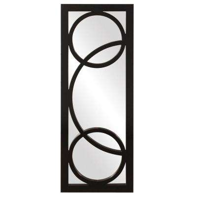 15 in. x 38 in. Glossy Black Framed Mirror