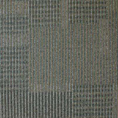 Park Avenue Graphite Loop 19.7 in. x 19.7 in. Carpet Tile (20 Piece/Case)