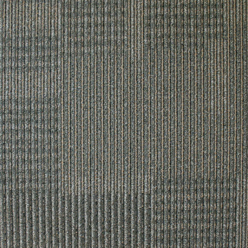 EuroTile Park Avenue Graphite Loop 19.7 in. x 19.7 in. Carpet Tile (20 Piece/Case)