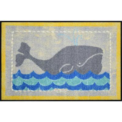 Whimsy Whale Of A Time 20 in. x 30 in. Nylon Doormat