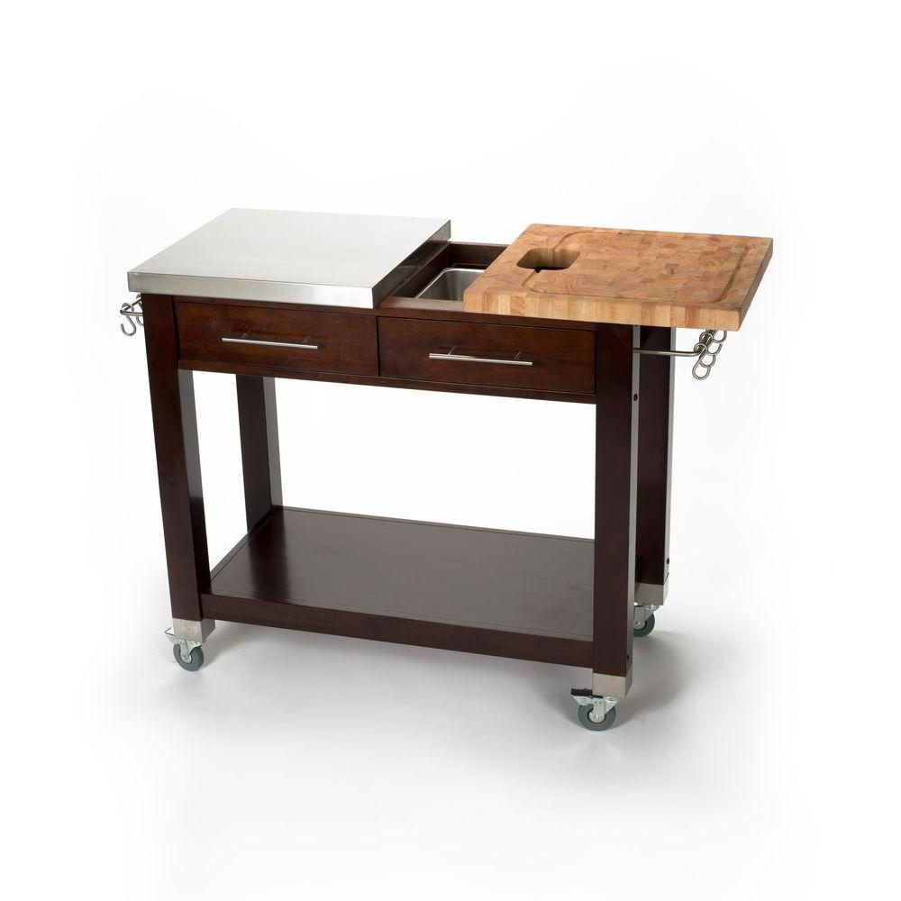 Internet #206763065. Chris U0026 Chris Chef Stainless Steel Kitchen Cart ...