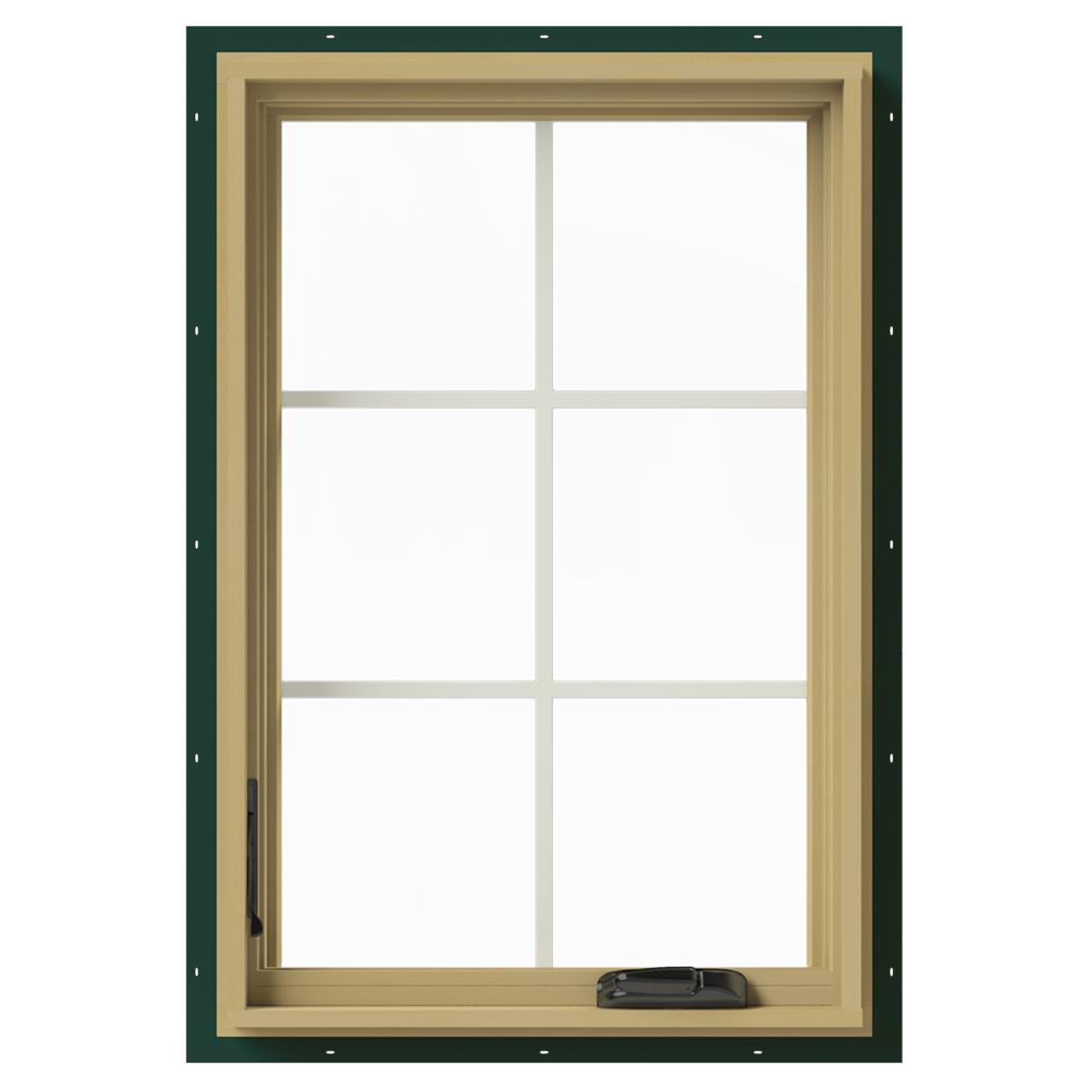 Jeld wen 24 in x 36 in w 2500 left hand casement for Best window treatments for casement windows