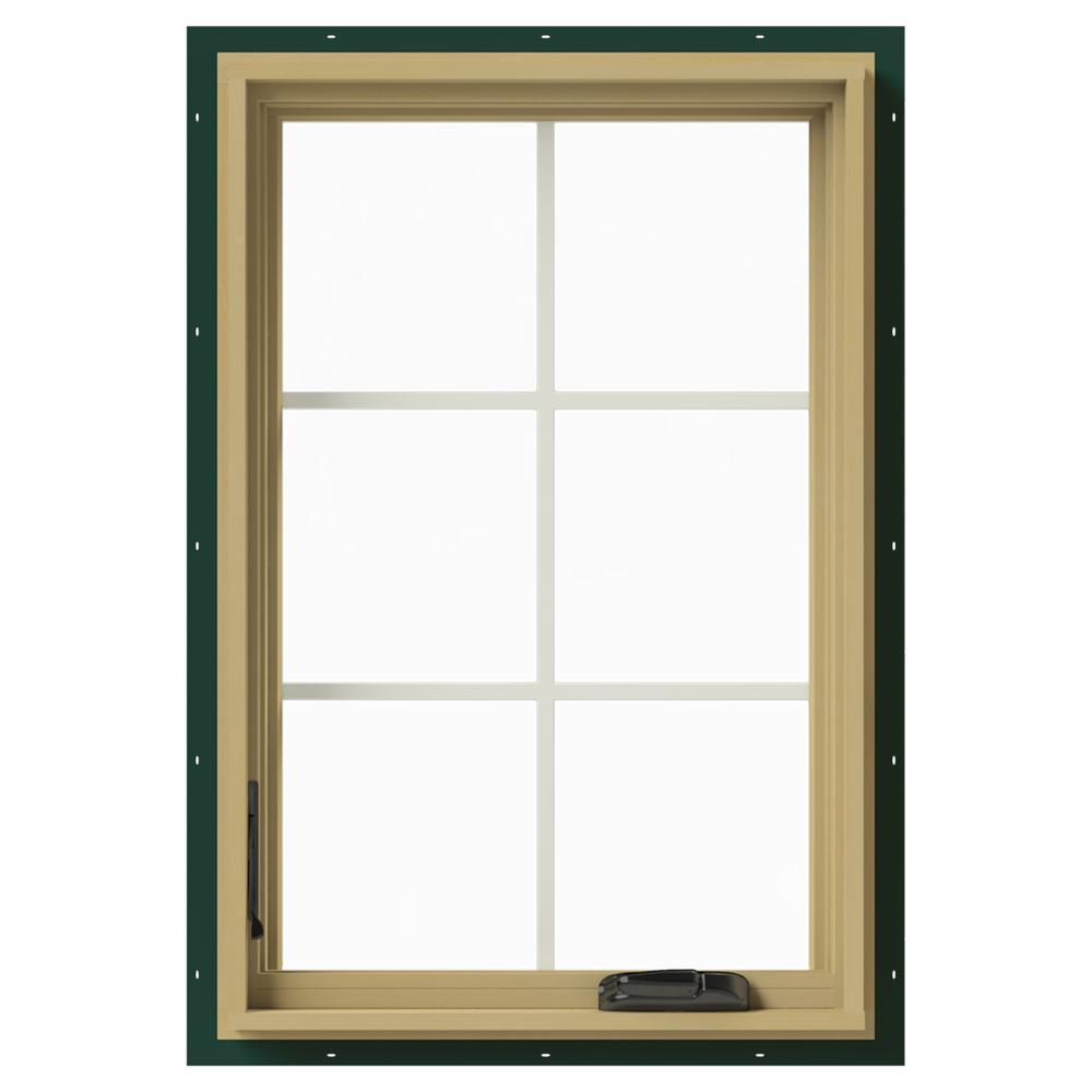 24 in. x 36 in. W-2500 Left-Hand Casement Aluminum Clad Wood Window