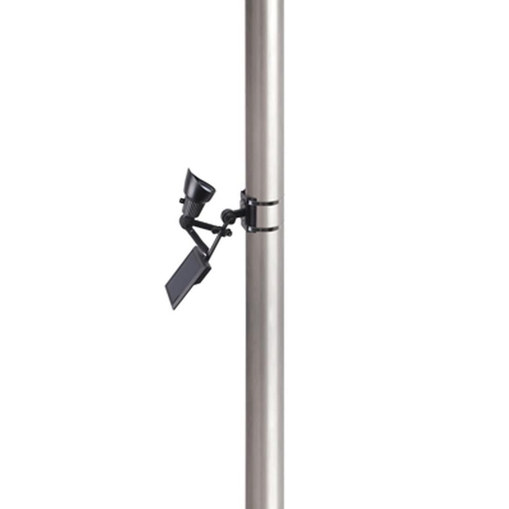Solar Powered 50-Lumen Black Outdoor Integrated LED Flagpole Spot Light