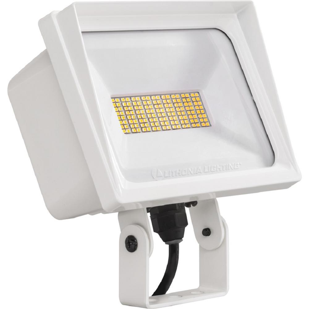 Lithonia Lighting Qte 40 Watt White Outdoor Integrated Led Flood Light