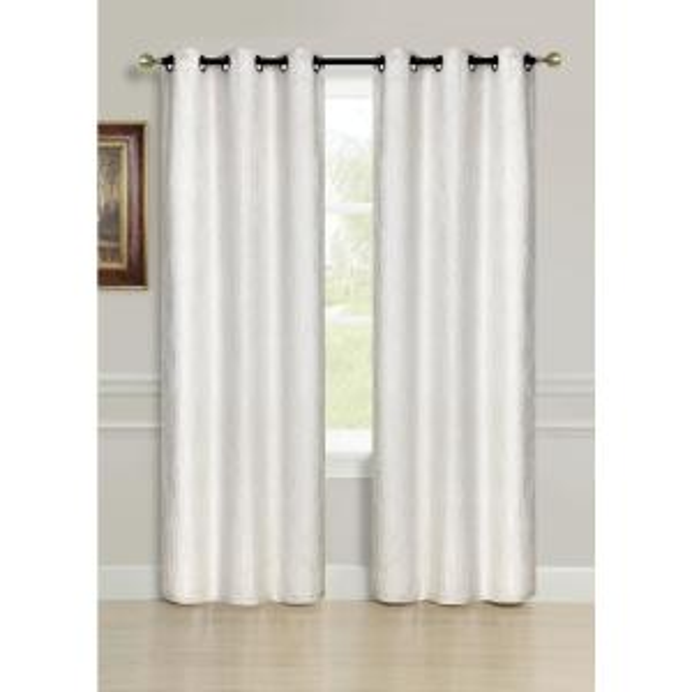 84 inch Avante Grommet Curtain Panel Pair in Ivory (2-Pack) by