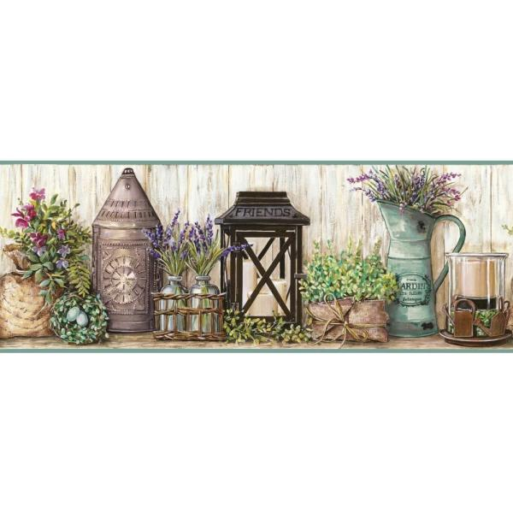 York Wallcoverings Country Keepsakes Garden Wallpaper Border AC4356BD