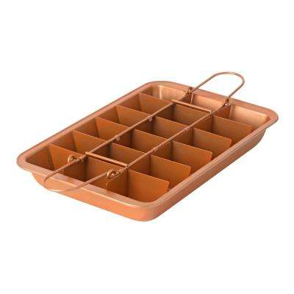 3 Piece Copper Non-Stick Brownie Pan