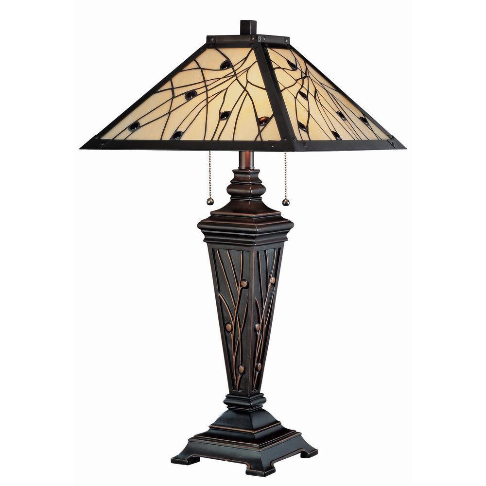 Illumine 29.25 in. Dark Bronze Table Lamp