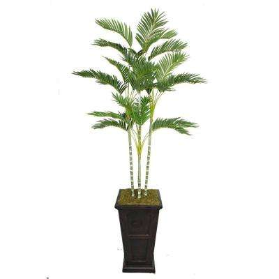 87 in. Tall Palm Tree in 16 in. Fiberstone Planter