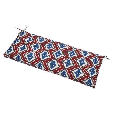 Red Ikat Rectangle Outdoor Bench Cushion