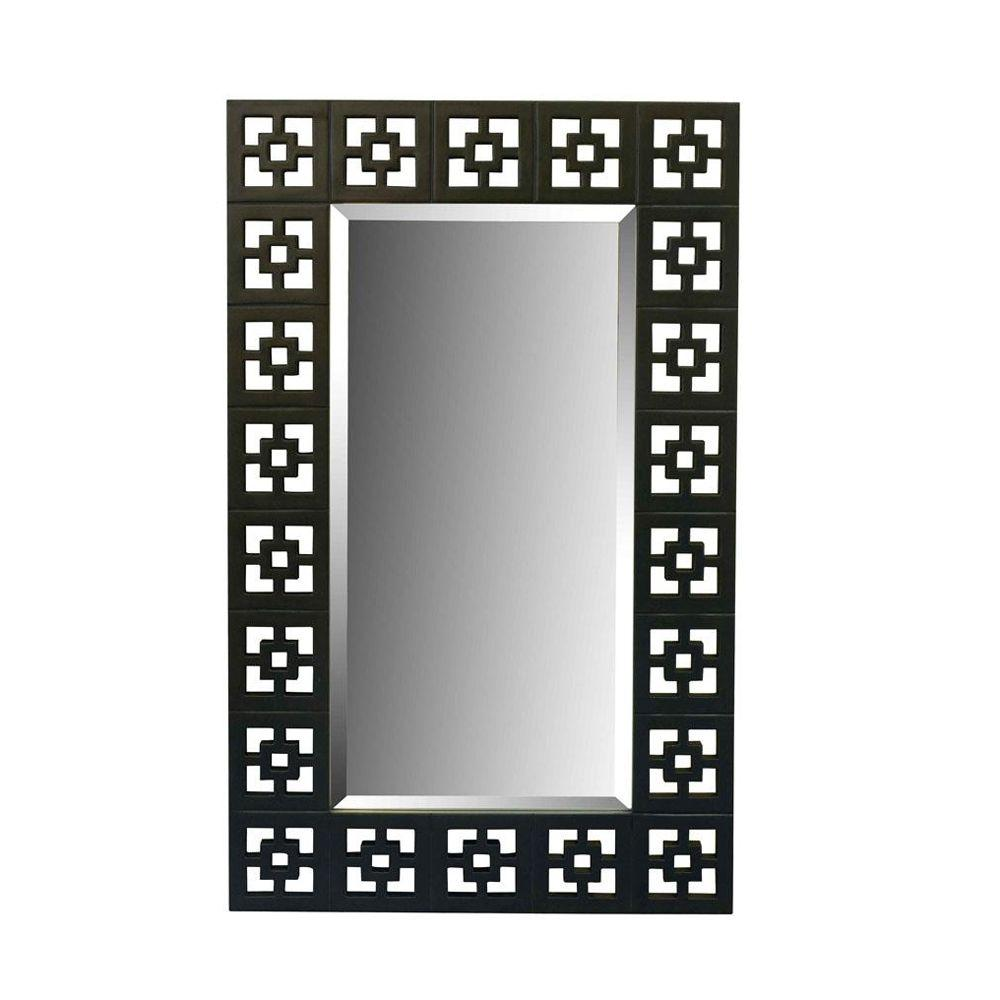 Home Decorators Collection 37.75 in. H x 23.5 in. W Shag Oil Rubbed Bronze Framed Mirror