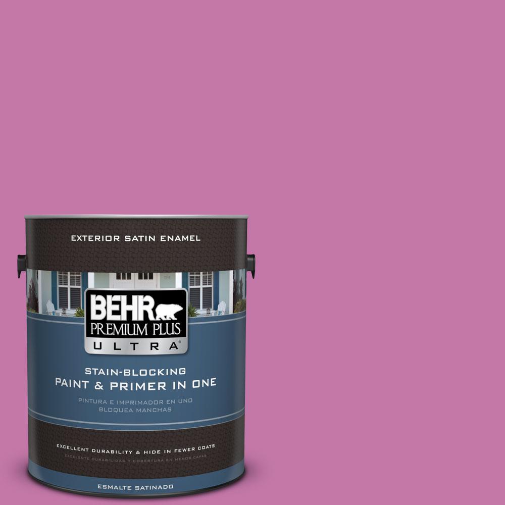 BEHR Premium Plus Ultra 1-gal. #680B-5 Strawberry Freeze Satin Enamel Exterior Paint