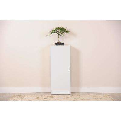 Greenwich White Matte and Maple Cream 3-Shelf Narrow Tall 2.0 Bookcase with Doors