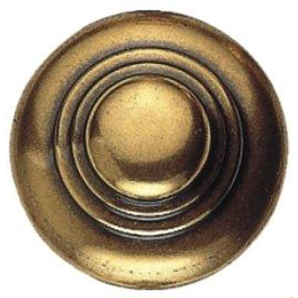 1600 Circa 1.18 in. Antique Brass Distressed Round Knob