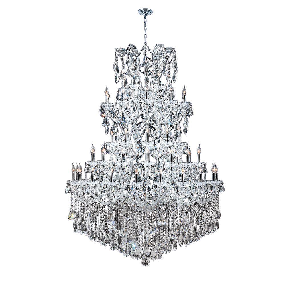 Maria Theresa 54-Light Polished Chrome Crystal Chandelier