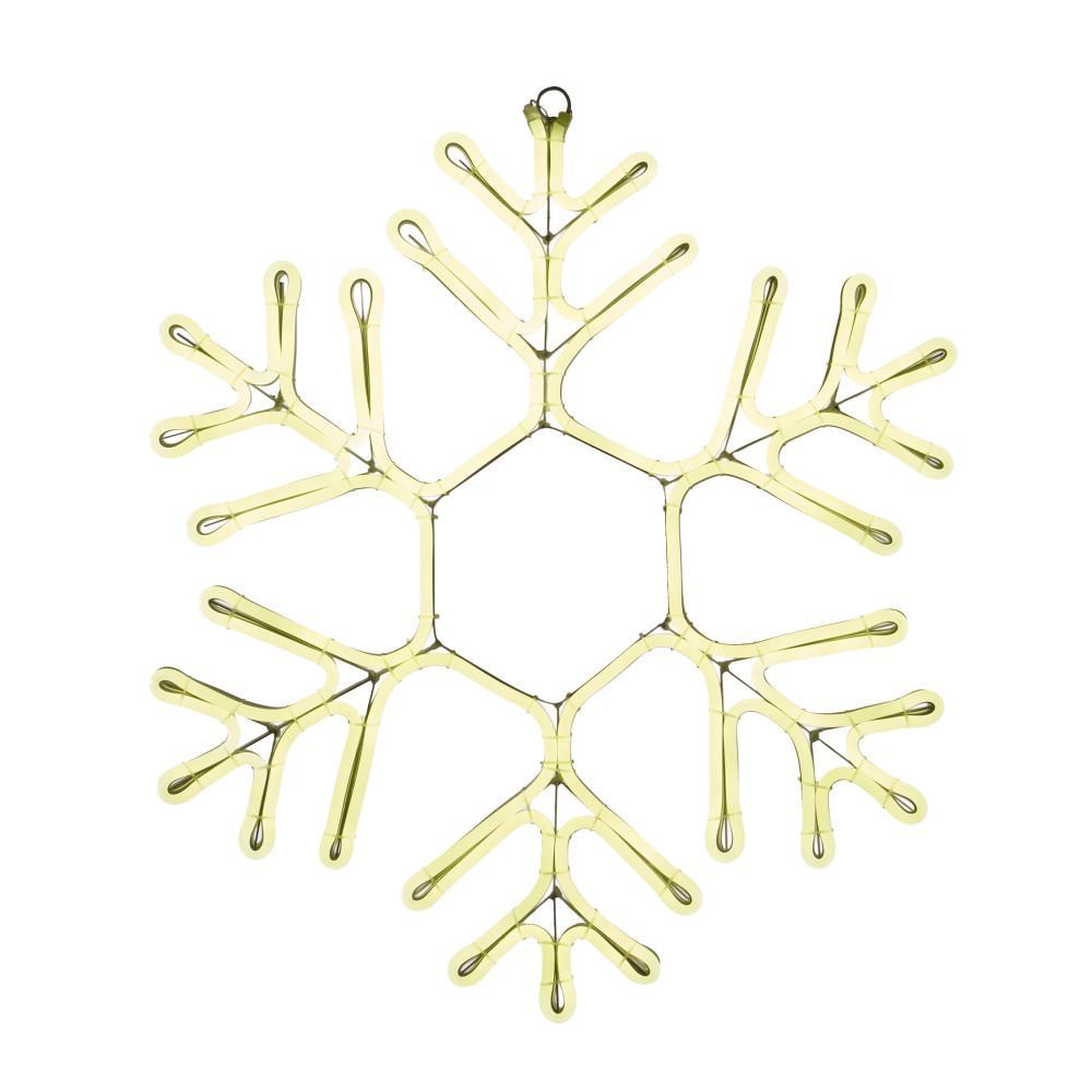 Martha Stewart Living 9 ft. Warm White Outdoor Lighted 23 inch Snowflake by Martha Stewart Living