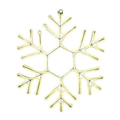 9 ft. Warm White Outdoor Lighted 23 in. Snowflake