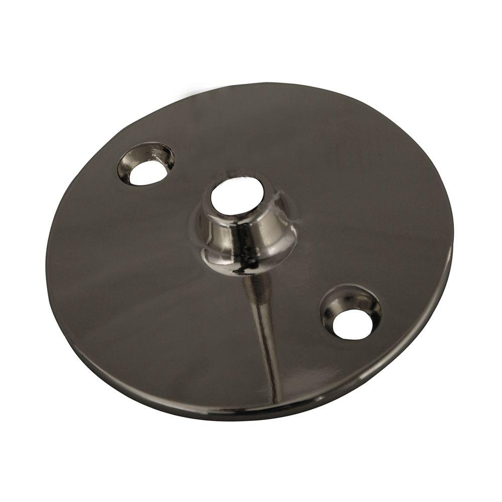0.37 in. Solid Brass Flange for 340 Ceiling Support in Polished