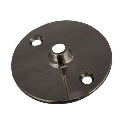 0.37 in. Solid Brass Flange for 340 Ceiling Support in Polished Nickel