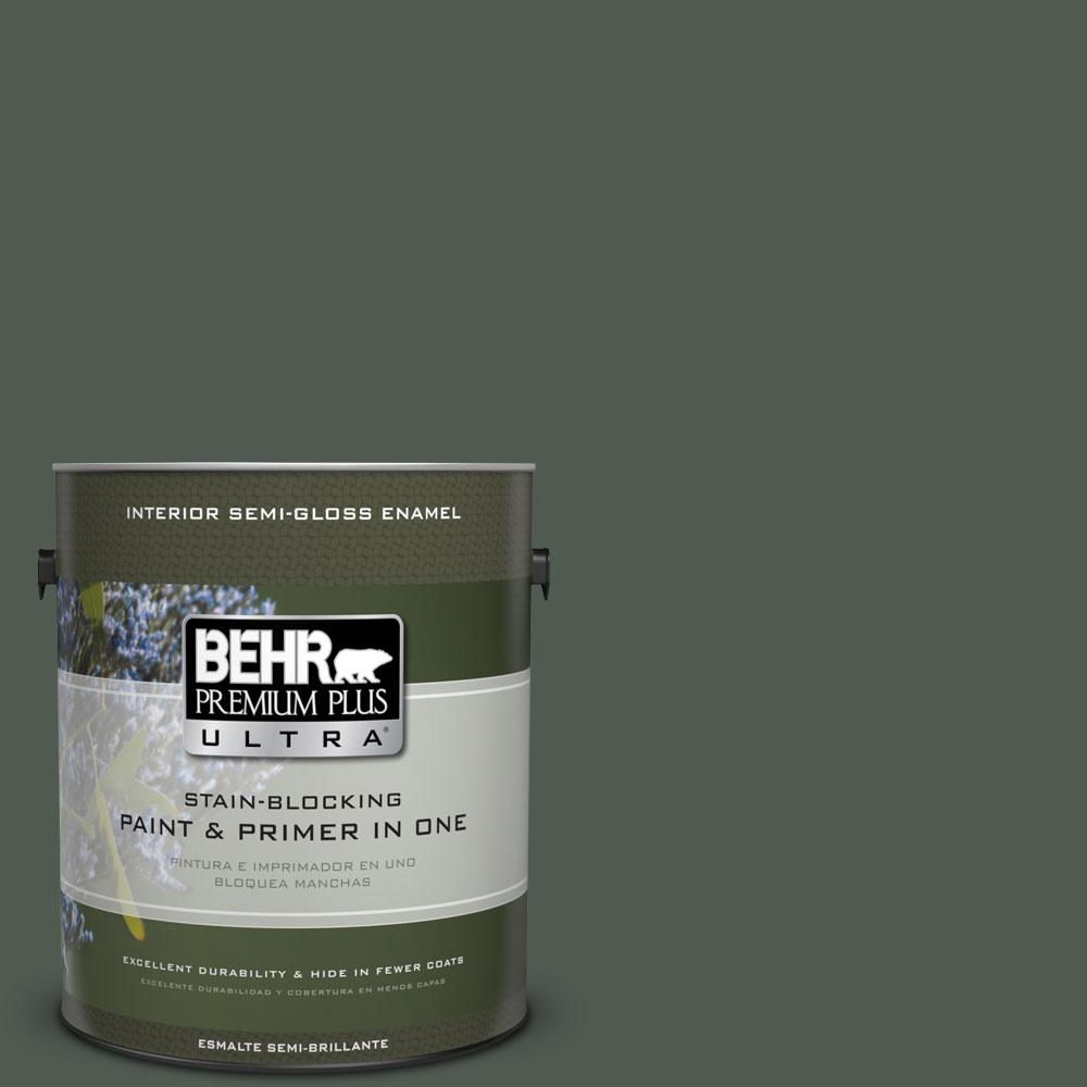 BEHR Premium Plus Ultra 1-gal. #N420-7 Alpine Trail Semi-Gloss Enamel Interior Paint