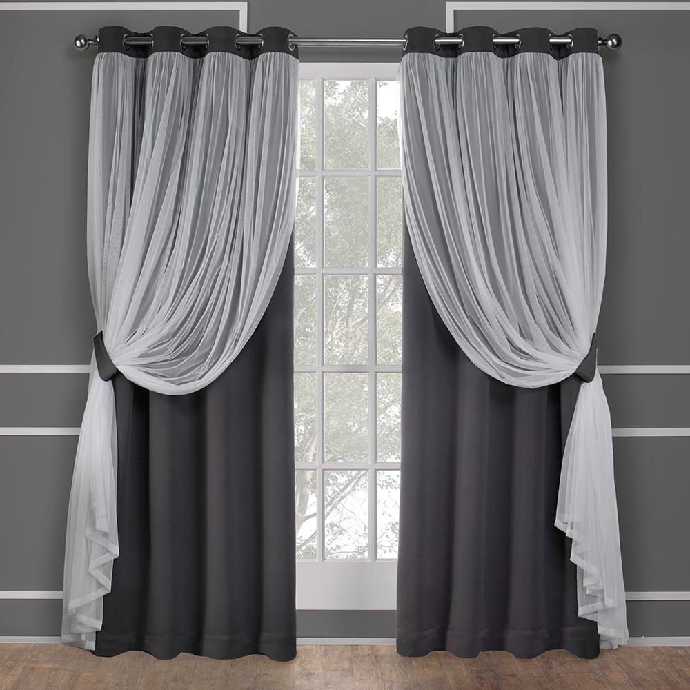 Catarina 52 In. W X 108 In. L Layered Sheer Blackout