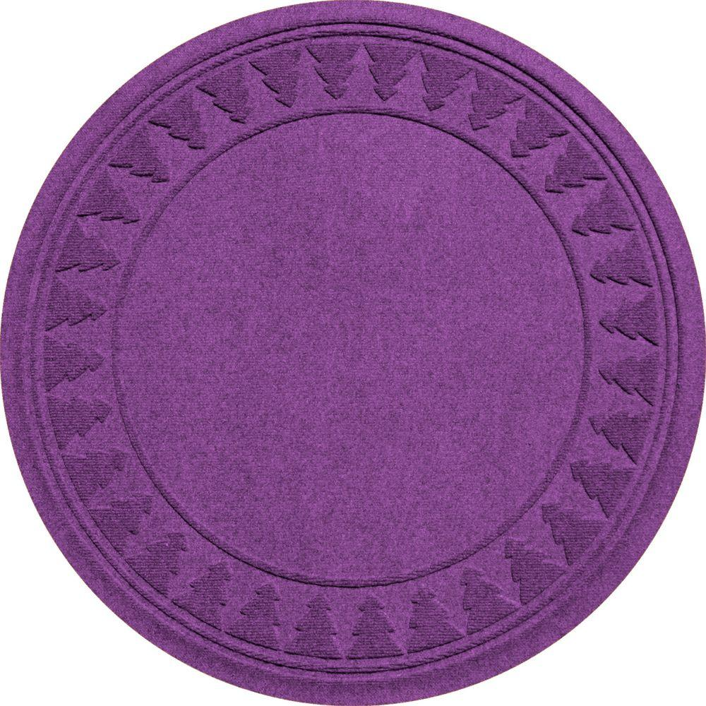 Purple 35 in. Round Pine Trees Under the Tree Mat, Purple...