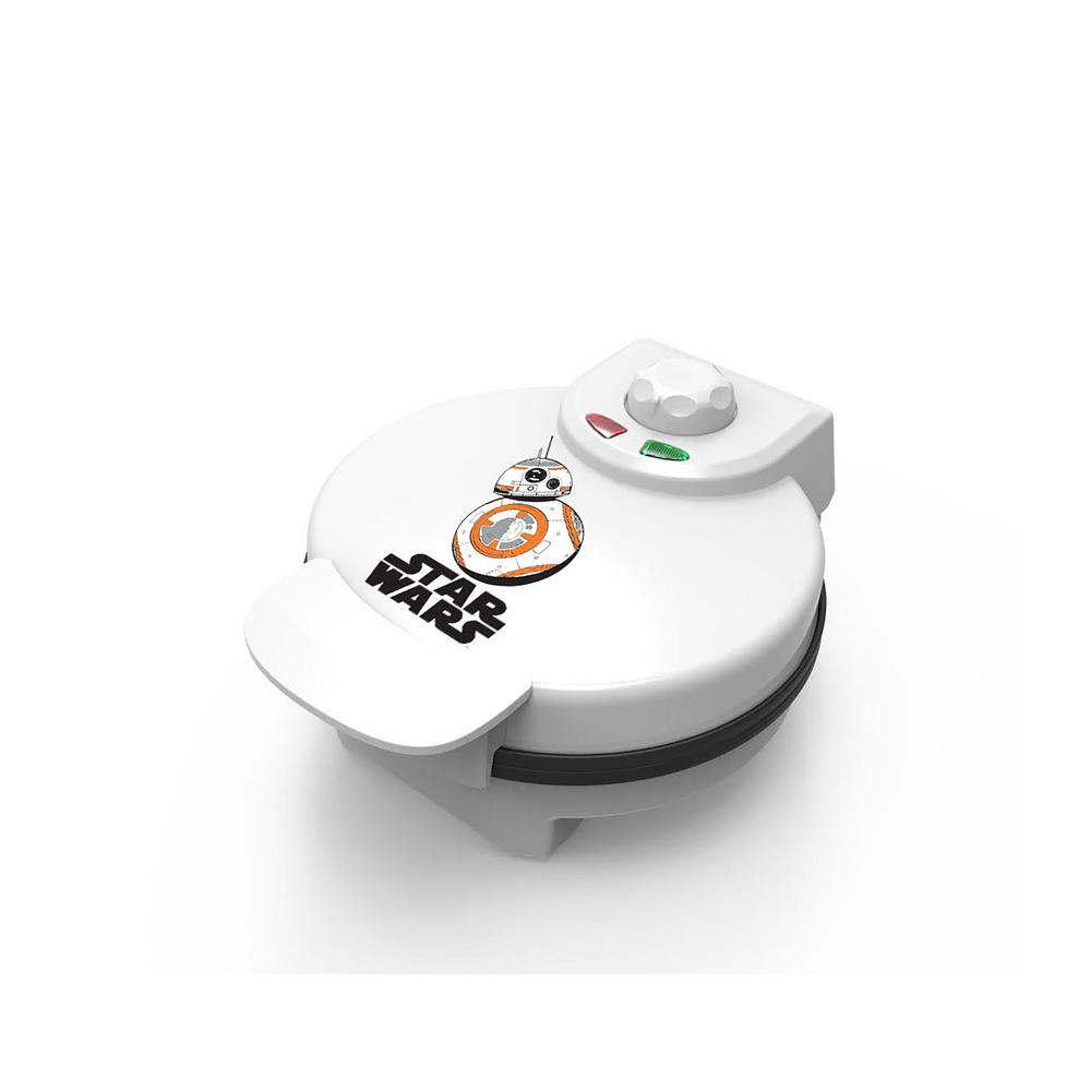 Pangea Brands Star Wars BB8 Waffle Maker, White The newest droid character in the Star Wars franchise can be enjoyed at every meal with the BB8 waffle maker. The BB8 Waffle Maker will make a striking addition to any kitchen or dorm room! Color: White.