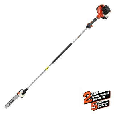 12 in. 25.4cc Gas 2-Stroke Cycle Straight Shaft Power Pole Saw