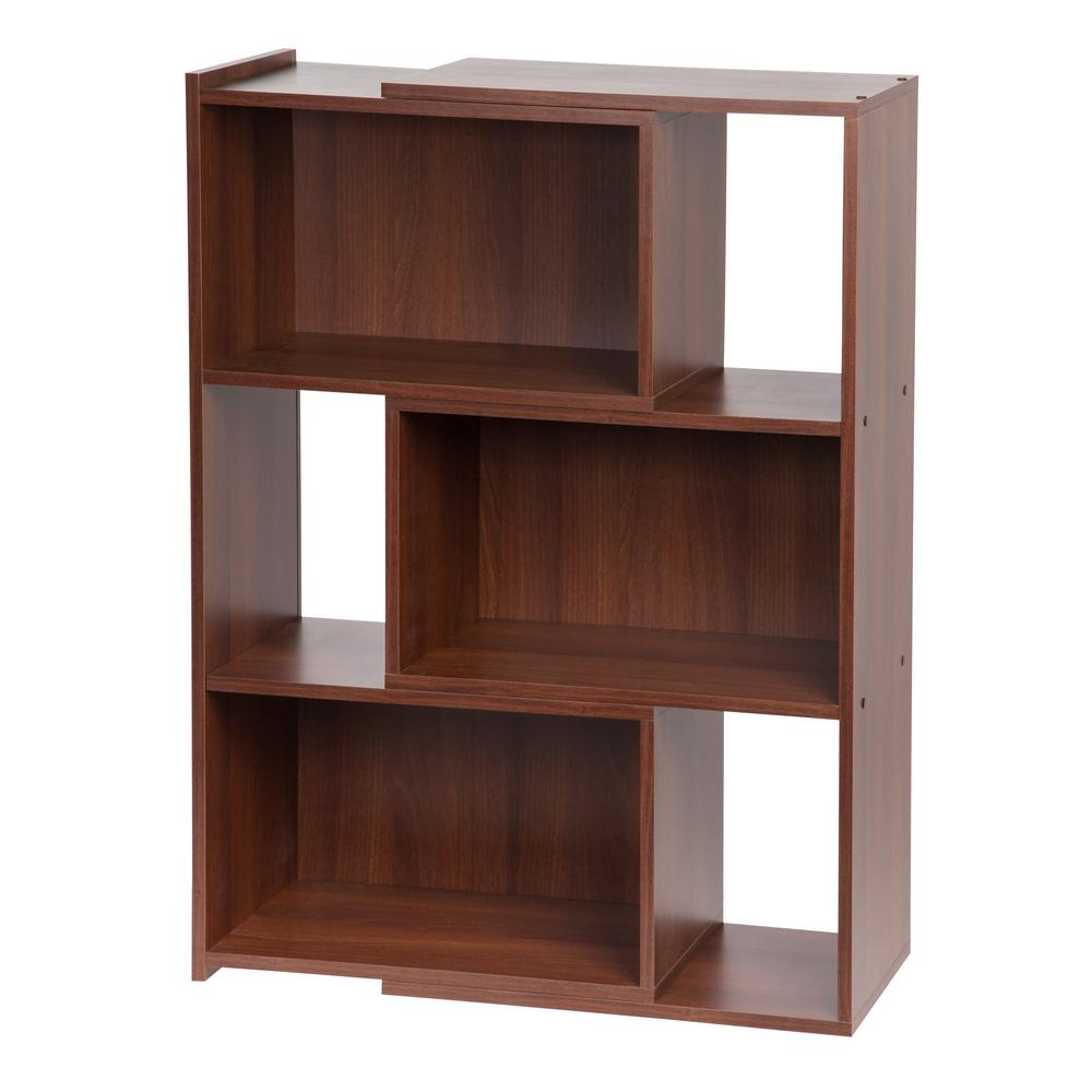 IRIS 42 In. Dark Brown Wide Expandable Bookcase-596065