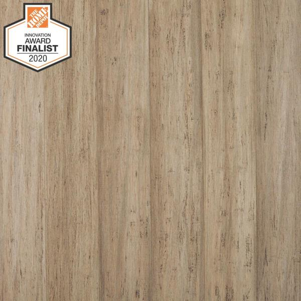 Stargazer 7 mm T x 5.12 in. W x 36.22 in. L Waterproof Engineered Click Bamboo Flooring (15.45 sq. ft./case)