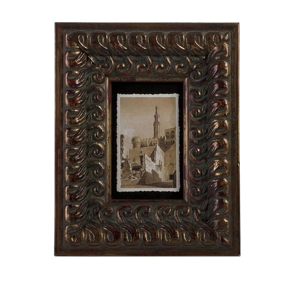 Filament Design Lenor 1-Opening 4 in. x 6 in. Brown Picture Frame ...