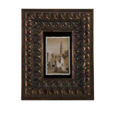 Lenor 1-Opening 4 in. x 6 in. Brown Picture Frame