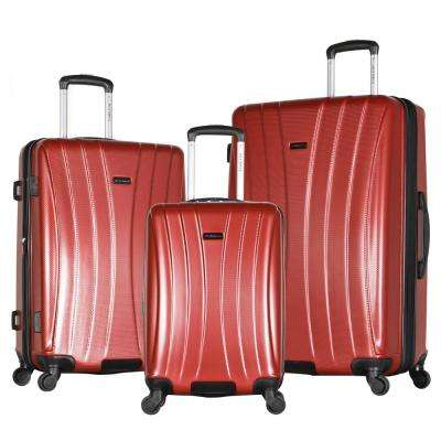 Brighton 3-Piece Wine Expandable Hard Case Spinner Set