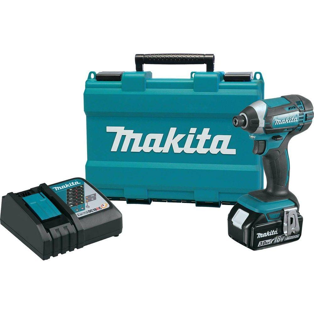 Makita 18-Volt LXT Lithium-Ion Cordless 1/4 in. Impact Driver Kit with 3.0 Ah Battery, Rapid Charger and Hard Case
