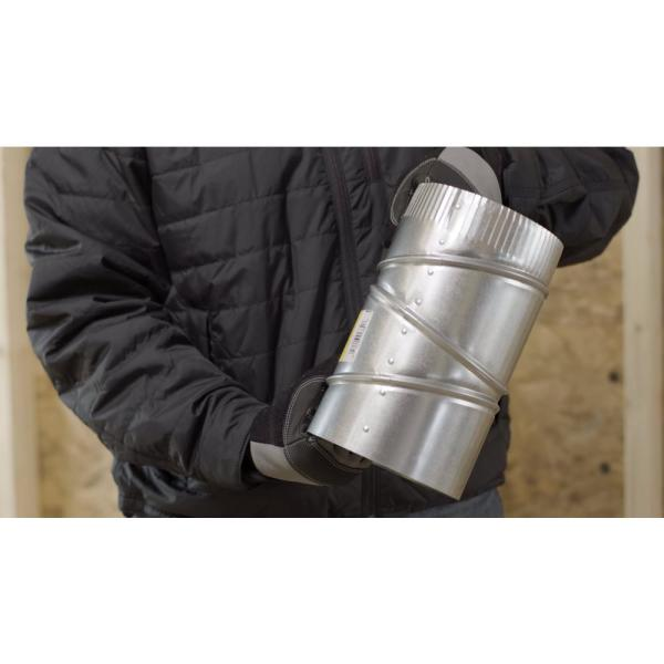 Master Flow 6 In X 6 In Black Stove Pipe Elbow Ba90e6 The Home Depot