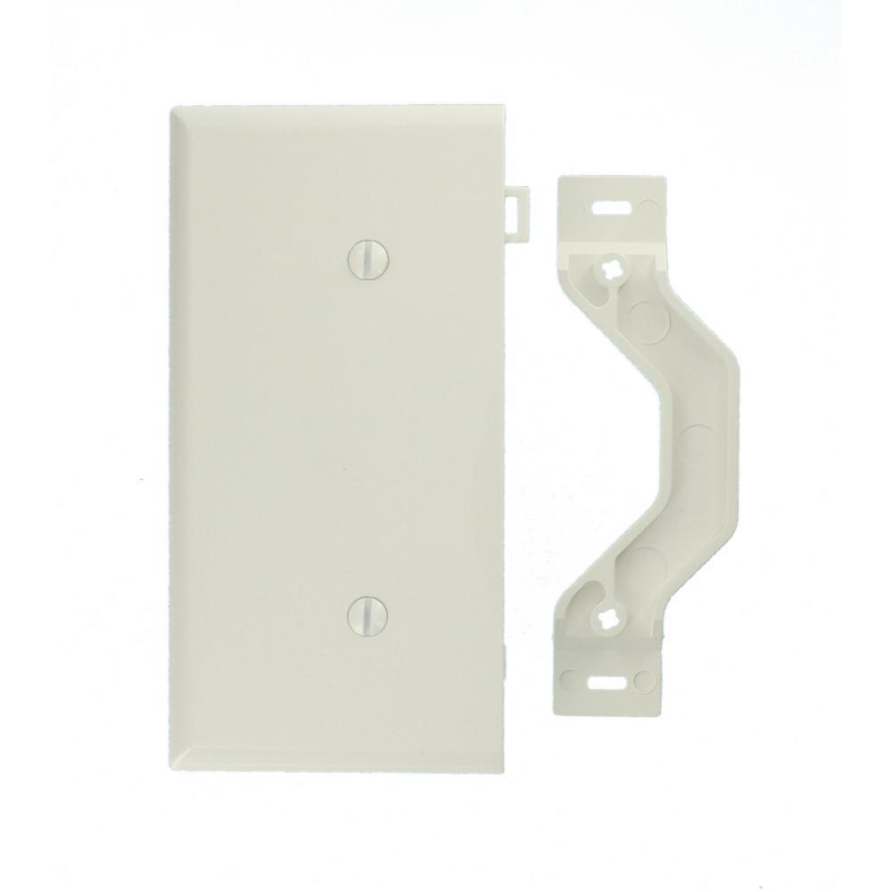 Leviton Sectional 1-Gang End Blank Nylon Wall Plate, White