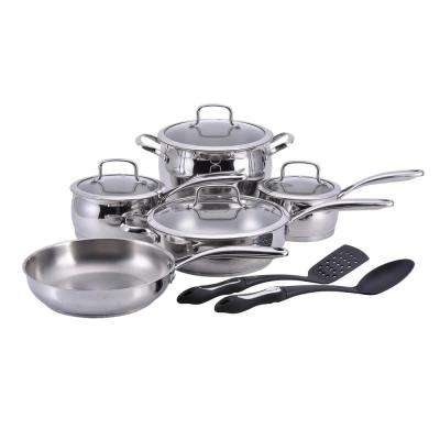 11-Piece Stainless Steel Cookware Set with Lids