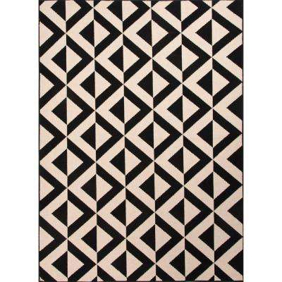 Marquise Jet Black 8 ft. x 10 ft. Tribal Area Rug